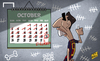 Cartoon: Suarez counting down the days (small) by omomani tagged barcelona,clasico,la,liga,suarez