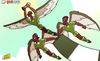 Cartoon: Super Eagles soar (small) by omomani tagged 2013,africa,cup,of,nations,jon,obi,mikel,nigeria,sunday,mba,victor,moses
