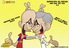 Cartoon: Supercopa de Espana 1st leg (small) by omomani tagged mourinho,guardiola,real,madrid,supercopa,de,espana,barcelona,spain,portugal,la,liga