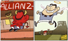 Cartoon: TEVEZ GOES FROM SINNER TO SAINT (small) by omomani tagged allianz,arena,manchester,city,qpr,tevez