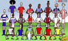 Cartoon: The Premier League is back! (small) by omomani tagged premier,league