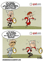 Cartoon: TIMES in the Premier League (small) by omomani tagged sir,alex,ferguson,dalglish,mancini,manchester,city,united,liverpool,premier,league,england,italy,scotland