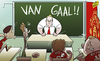 Cartoon: Van Gaal begins work at Man U (small) by omomani tagged de,gea,juan,mata,kagawa,manchester,united,rooney,van,gaal
