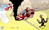 Cartoon: Villa sting Liverpool in title (small) by omomani tagged arsenal,aston,villa,brendan,rodgers,liverpool,manchester,city,paul,lambert,premier,league,steven,gerrard,suarez