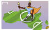 Cartoon: Yaya Toure crowned King of Afric (small) by omomani tagged africa,cote,ivoire,manchester,city,yaya,toure