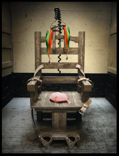 Cartoon: Electric chair (medium) by willemrasingart tagged electric,chair,