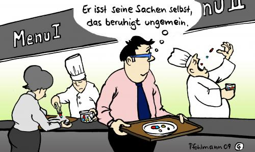 Kantine by pfohlmann politics cartoon toonpool for Koch sucht arbeit