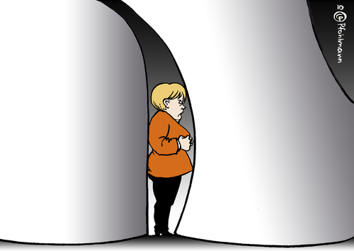 Cartoon: Merkel unter Atomdruck (medium) by Pfohlmann tagged deutschland,merkel,bundeskanzlerin,cdu,atomkraft,akw,atomindustrie,atomausstieg,druck,drohung,lobby,atomlobby,energiekonzerne,kernkraft,energiepolitik,deutschland,angela merkel,cdu,atomkraft,akw,atomindustrie,atomausstieg,druck,drohung,lobby,atomlobby,energiekonzerne,kernkraft,energiepolitik,energie,angela,merkel