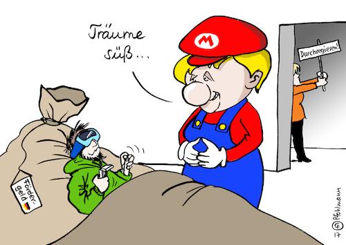 Spielsucht Karikatur