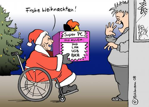 weihnachts pc by pfohlmann politics cartoon toonpool. Black Bedroom Furniture Sets. Home Design Ideas