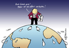 Cartoon: Erderwärmung (small) by Pfohlmann tagged karikatur,color,farbe,2011,deutschland,klima,klimakonferenz,klimapolitik,umwelt,merkel,kanzlerin,bundeskanzlerin,grad,temperatur,erderwärmung,klimawandel,klimakatastrophe