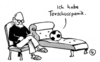 Cartoon: Torschuss (small) by Pfohlmann tagged fußball,ball,torschuss,panik,psychiater,freud,psychologie,therapie,psychotherapie,couch
