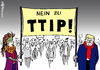 Cartoon: Trump und TTIP (small) by Pfohlmann tagged karikatur,cartoon,2016,color,farbe,global,usa,deutschland,eu,trump,präsident,ttip,gegner,freihandel,freihandelsabkommen,demo,demonstration,wahl,wahlsieger,wahlsieg,republikaner,transparent,demonstranten,widerstand,europa