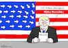 Cartoon: US-Fachkraft (small) by Pfohlmann tagged karikatur,cartoon,2017,color,farbe,usa,trump,präsident,fachkraft,fachkräfte,visum,visa,einreise,dekret,bestimmungen,immigration,immigranten,arbeitserlaubnis,hire,america,first,flagge,fahne,stars,and,stripes