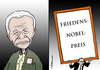 Cartoon: Zwei Nobelpreisträger (small) by Pfohlmann tagged karikatur,cartoon,color,farbe,2013,südafrika,international,usa,nelson,mandela,tod,tot,nobelpreis,friedensnobelpreis,obama,präsident,unterschied,rassentrennung,apartheid