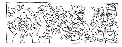 ausmalbild karnevalsabine voigt  business cartoon