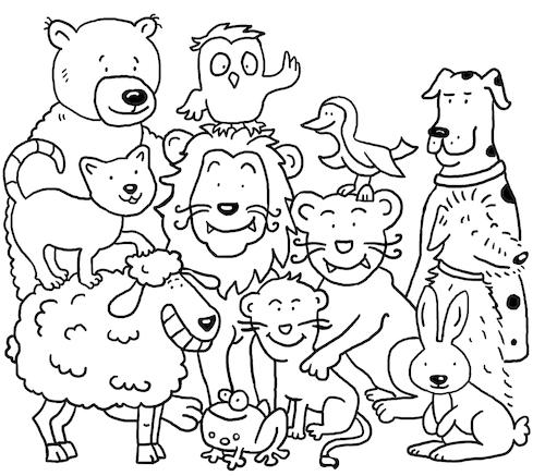Ausmalbild Tiere By Sabine Voigt Nature Cartoon Toonpool