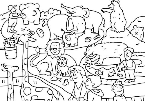 ausmalbilder im zoo  kinder ausmalbilder