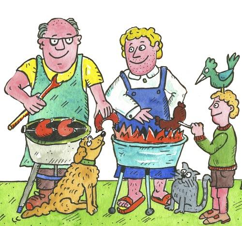 grillen grill By sabine voigt | Media & Culture Cartoon ...