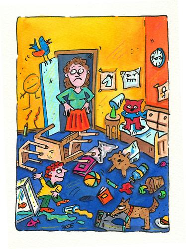 kinderzimmer by sabine voigt philosophy cartoon toonpool. Black Bedroom Furniture Sets. Home Design Ideas