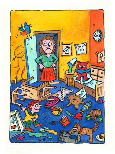 Cartoon kinderzimmer medium by sabine voigt tagged erziehung