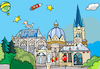 Cartoon: Aachen Dom (small) by sabine voigt tagged aachen,dom,kirche,karl,tourismus,stadt,religion