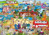 Cartoon: Wimmelbild England (small) by sabine voigt tagged wimmelbild,london,tower,queen,themse,england,brexit,europa,great,britain,westminster,bus,paddington
