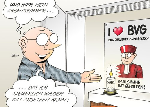 arbeitszimmer by erl politics cartoon toonpool. Black Bedroom Furniture Sets. Home Design Ideas