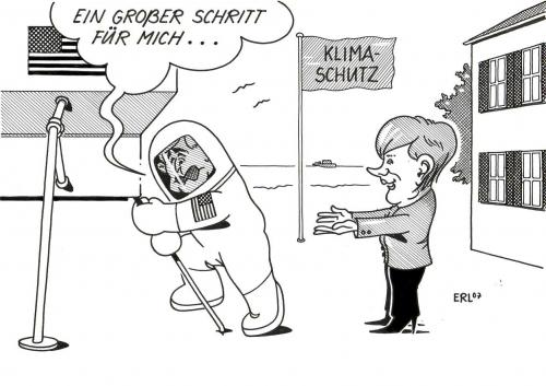Cartoon: Bush (medium) by Erl tagged ,george,bush,usa,raumfahrt,klimaschutz,klima,angela,merkel,schritt,raumanzug,angela merkel,george bush,george w bush,mondlandung,armstrong