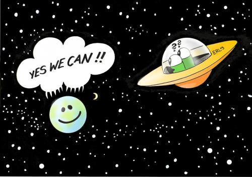 cartoon earth images. Cartoon: Earth (medium) by Erl