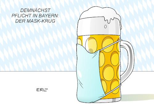 Maskenpflicht in Bayern By Erl | Politics Cartoon | TOONPOOL