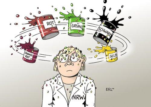 NRW-Farben By Erl | Politics Cartoon | TOONPOOL