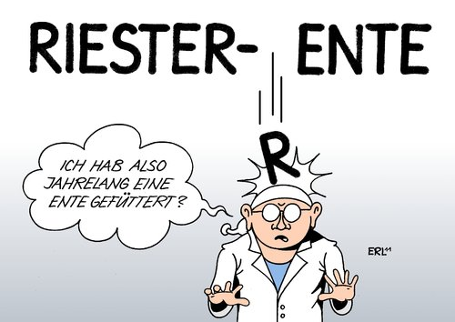 Cartoon: Riester-Rente (medium) by Erl tagged riester,rente,altersvorsorge,privat,flop,ente,füttern,versicherung,bank,rentner,riester,rente,altersvorsorge,privat,flop,ente,füttern,versicherung,bank,rentner