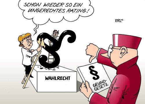 Cartoon wahlrecht medium by erl tagged wahlrecht gesetz neu