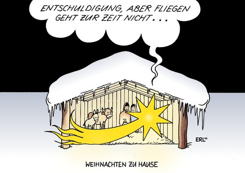 weihnachten zu hause by erl politics cartoon toonpool. Black Bedroom Furniture Sets. Home Design Ideas