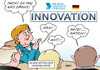 Cartoon: Innovation (small) by Erl tagged deutschland,regierung,bundesregierung,bildungsministerium,hightech,strategie,innovation,ukraine,krise,krieg,konflikt,russland,iwan,ivan,anti,nato,nation