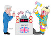 Cartoon: Juncker und Johnson (small) by Erl tagged politik,brexit,großbritannien,eu,boris,johnson,jean,claude,juncker,zeitbombe,entschärfung,clown,karikatur,erl