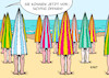 Cartoon: Sommerurlaub (small) by Erl tagged politik,corona,virus,pandemie,covid19,lockdown,rückgang,fallzahlen,inzidenzwert,lockerung,öffnung,tourismus,urlaub,sommer,sommerurlaub,strand,sonnenschirm,meer,karikatur,erl