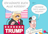 Cartoon: Trump Tests (small) by Erl tagged politik,usa,präsident,donald,trump,versagen,corona,virus,pandemie,erkrankung,covid19,wahlkampf,behauptung,immunität,bezwinger,sieger,hybris,geisteszustand,ärzte,coronatest,negativ,karikatur,erl