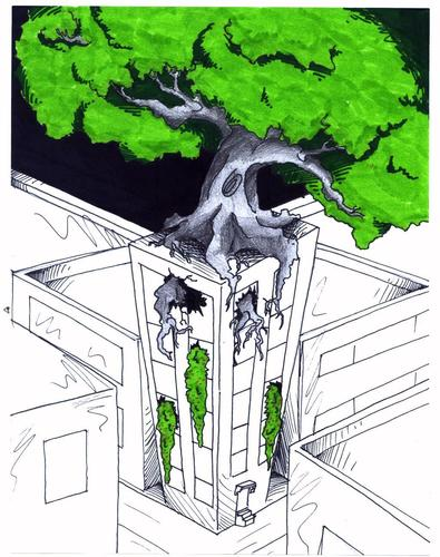 Urban Garden By robobenito | Nature Cartoon | TOONPOOL
