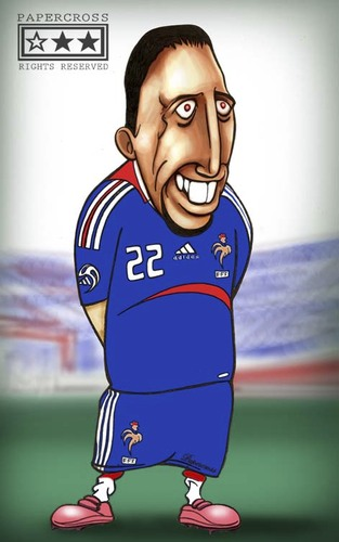 Cartoon: Frank Riberi veri cute bichiko (medium) by billfy tagged riberi,football,france,bayern,munchen,frankenstein