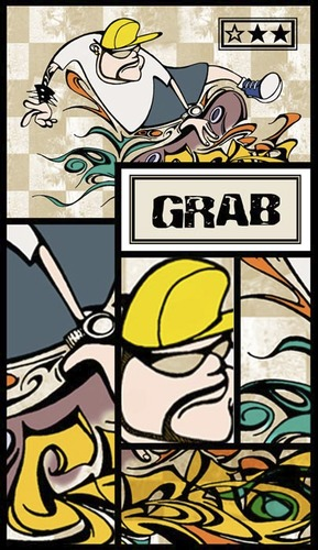 Cartoon: grab trick (medium) by billfy tagged sk8,grab,trick