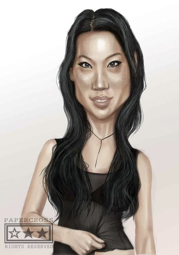 Cartoon: lucy (medium) by billfy tagged lucy,liu,actres,hollywood