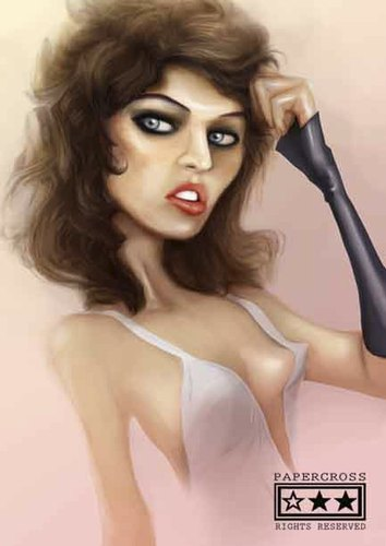 Cartoon: mila jovovich (medium) by billfy tagged holliwood,actress,sexy,resident,evil,ukraine
