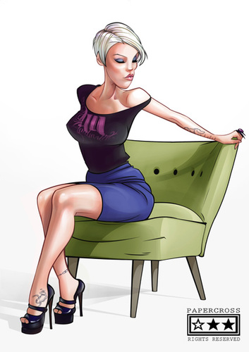 Cartoon: P!nK (medium) by billfy tagged pink