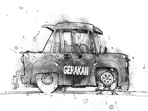 Cartoon: GERAKAN (medium) by mystudio69 tagged cartoon