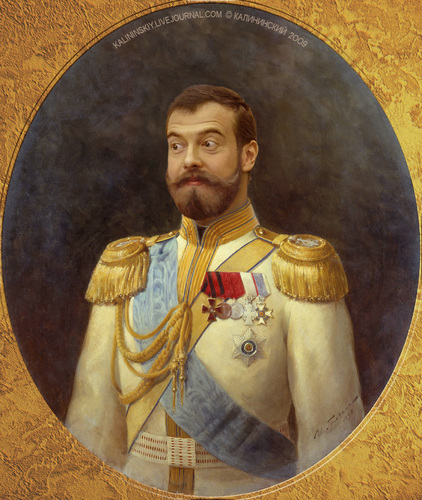 Cartoon: Tsar Medvedev I (medium) by Kalininskiy tagged policy
