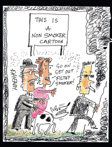 Cartoon: Nosmo King (medium) by EASTERBY tagged smoking