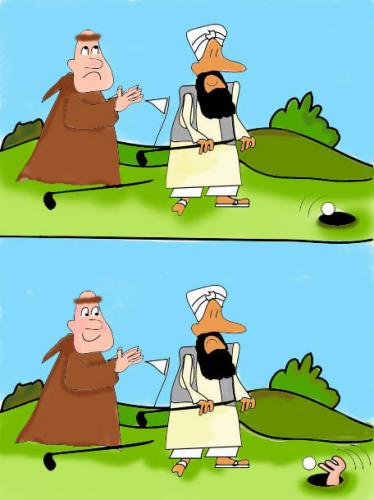 Cartoon: Power of........Golf (medium) by EASTERBY tagged sport,religion