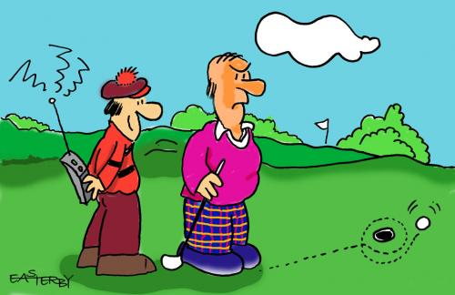 Cartoon remote controlled golf medium by easterby tagged sporty or